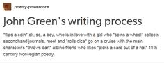 This burn on John Green:>> every author is like this