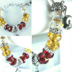 Who is your favorite NFL team? Washington Redskins Charm Bracelet On Sale Now! https://www.etsy.com/listing/263466548/nfl-washington-logo-charm-bracelet