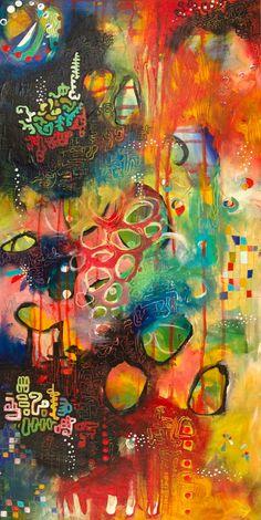 Rainbow Acrylic Painting Inspirational Art OOAK by firemanbell Kunstjournal Inspiration, Art Journal Inspiration, Painting Inspiration, Journal Ideas, Art Studio Organization, Rainbow Painting, Art Journal Pages, Art Journaling, Process Art
