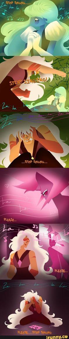#jasper, #stevenuniverse, #sapphire, #pinkdiamond