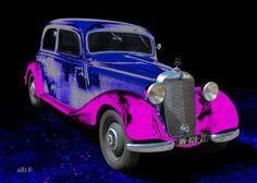 Mercedes-Benz Typ 170 D in black & blue-pink