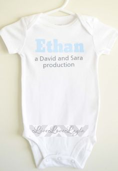 Personalized Parent Production Baby Onesie / Baby Bodysuit / Cute Onesie - haha this is funny