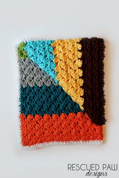 Free Crochet Blanket Pattern using the Blanket Stitch via Rescued Paw Designs