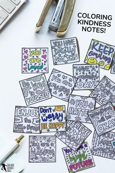 These coloring compliment notes are ideal for lifting the spirits in your classroom and spreading kindness! There are 20 different coloring notes to choose from and they come in 2 different sizes. You can print a range of different notes or specific ones at a time. So enjoy some relaxing down time whilst spreading kindness and compliments to the entire school body! Character Education, Character Development, Growth Mindset Display, Kindness Notes, Mindfulness Colouring, Growth Mindset Activities, Kindness Projects, Quote Coloring Pages, Responsive Classroom