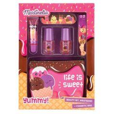 Martinelia Life is Sweet Παιδικό Σετ Μακιγιάζ lipgloss 5ml Nail Polish 2 x 3ml Popcorn Maker, Cosmetic Bag, Lip Gloss, Cosmetics, Nails, Sweet, Finger Nails, Candy, Ongles