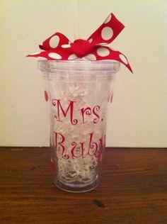 gift 16, customiz teacher, teacher gifts, tumblers, valentine day gifts