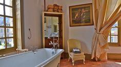 """Grande salle de bain-douche """"Lucullus"""" dans le gîte """"Pavillon des Cerfs"""" au Château de la Ferté  Saint-Aubin"""