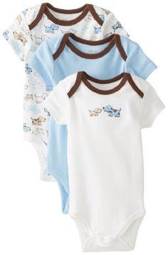 Little Me Baby-Boys Newborn Cute Puppies 3 Pack Bodysuit, Blue/Multi, Newborn Little Me http://www.amazon.com/dp/B00GQP9F2M/ref=cm_sw_r_pi_dp_QzUavb1S2G4N3