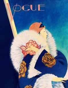 VOGUE COVER PRINT  High Fashion in Royal Blue by ArtdeLimaginaire, $11.99