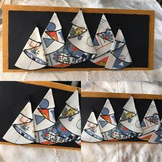 Tent fold Christmas card made from upcycled paper products.  https://www.facebook.com/Upsychled/posts/1131148276954817