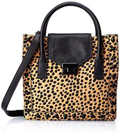 Women's Cross-Body Handbags - LOEFFLER RANDALL Junior Work ToteCheetahBlackShiny BlackOne Size -- More info could be found at the image url.