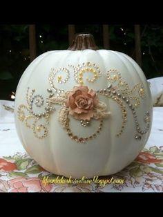 Cinderella inspired pumpkin.