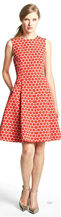 Kate Spade ● Dot jacquard fit & flare dress