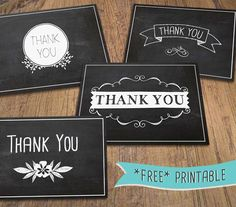 free chalkboard thank yous
