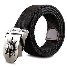 New Canvas Belt With Cool A Skull Shape Metal Buckle //Price: $12.95 & FREE Shipping //     #ChicBay.com
