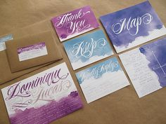 Watercolor Wedding Invitations; in green!