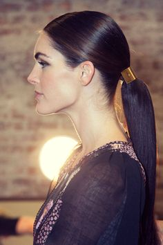 NYFW Backstage: Beauty profile at Jason Wu, Hilary Rhoda