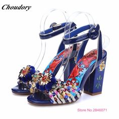 (82.40$)  Watch more here  - 2017 New Fashion Summer Shoes Women Multicolor Beads Bohemia National Trend High Heels Women's Rhinestone Sandals Sandale Femme