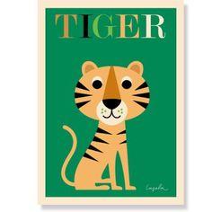 "itkids   Kinderposter ""Tiger"", 50 x 70 cm, Ingela P. Arrhenius für OMM Design"