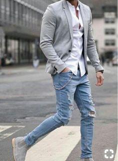 Mens fashion smart - 30 best cool fall fashion outfits for men 2019 33 Fall Fashion Outfits, Mens Fashion Suits, Fashion Night, Casual Outfits, Autumn Fashion, Travel Outfits, Blazer Outfits Men, Trendy Fashion, Black Men Casual Fashion