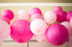 Virginia Wedding Reception Pink Lanterns 550x365 Whimsical Summer Wedding Reception in Virginia: Ginly + Rob