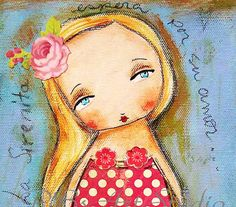 La Sirenita The little MermaidOriginal mixed media por PBsArtStudio, $30,00