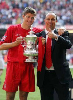 Blood Red: There's no middle ground where former Liverpool FC manager Rafa… Liverpool Legends, Fc Liverpool, Liverpool Football Club, Best Football Team, Football Fans, Liverpool Fc Managers, Steven Gerrard Liverpool, Good Soccer Players, Soccer Teams