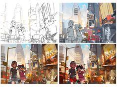 Digital Art Tutorial, Freelance Illustrator, Art Tutorials, Art Inspo, Concept Art, Artsy, Animation, Deviantart, Drawings