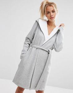 5df19854fc ASOS Jersey Robe With Fleece Lining at asos.com