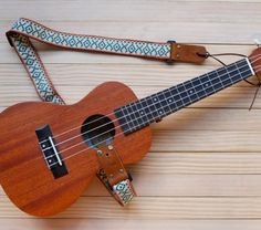 Cream Retro Ukulele Strap 3 in 1 by Qilinlibrary on Etsy Bass Guitar Case, Bass Guitar Lessons, Painted Ukulele, Yamaha Bass, Ukulele Straps, Ukulele Songs, Singing Tips, Playing Guitar, Music Stuff
