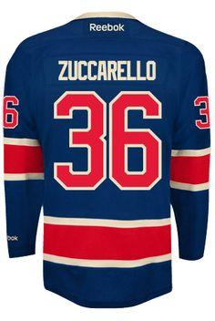 New York Rangers Mats ZUCCARELLO #36 Official Third Reebok Premier Replica NHL Hockey Jersey (HAND SEWN CUSTOMIZATION)