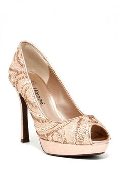J. Renee Kenzie Peep Toe Pump - Wide Width Available