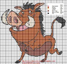 grille gratuite : autour du Roi Lion : Pumba