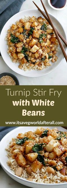 This vegetarian Turnip Stir Fry is a flavorful dish that's on the table in less than 30 minutes! Cooked turnips are coated with a honey ginger sauce. Turnip Recipes, Vegetable Recipes, Vegetarian Recipes, Cooking Recipes, Healthy Recipes, Dishes Recipes, Potato Recipes, Healthy Food, Dessert Recipes