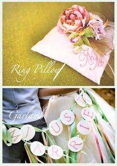 Ring pillow & Garland