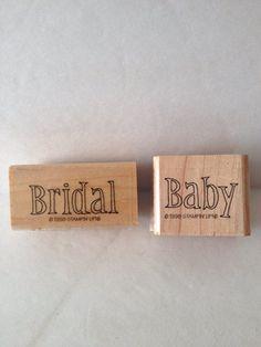 Stampin' Up Celebration Invitation Set of 2 stamps1998-RARE baby bridal #StampinUp