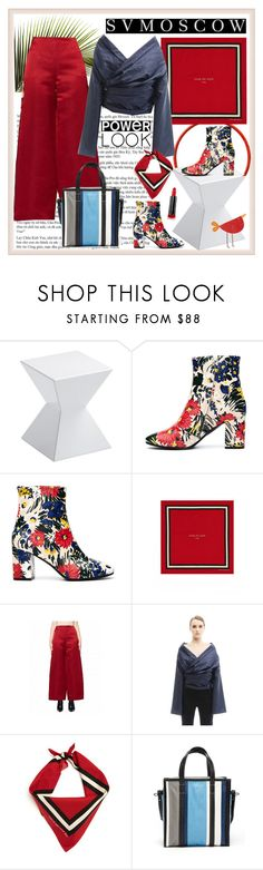 """""""SVMOSCOW 75. - FOOTWEAR II"""" by carola-corana ❤ liked on Polyvore featuring Sunpan, Balenciaga, Fear of God, Ström, The Row and Max Factor"""