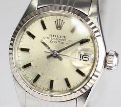 Rolex ロレックスデイトRef.6517Cal.1161ATレディース風防交換済 時計 Watch Antique ¥78000yen 〆05月23日
