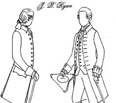 1770's Gentlemen's Coat Pattern for Mary Bonny coat (Jas. Townsend)