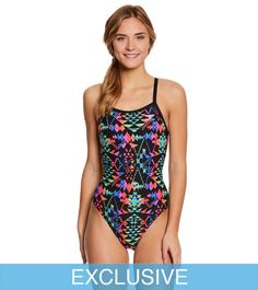 The Finals Women's Aztec Butterfly Back One Piece Swimsuit at SwimOutlet.com – The Web's most popular swim shop