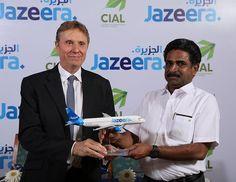 Jazeera Airways, Kuwait's leading low cost airline, operating regionally and internationally, celebrated its four weekly flights into Kochi. Direct Flights, Kochi, Kerala, Aviation, News, Air Ride, Aircraft