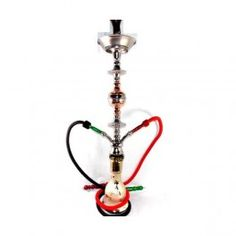 Cachimba egipcia modelo Shaba 90cm 2 Mangueras con base de cristal pintado artesanalmente. El precio incluye todos sus accesorios: el quemador, la pinza, las gomas, manguera lavable y bolsa de viaje. Altura 90cm.