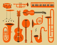 MUSICAL INSTRUMENTS of JAZZ by JazzberryBlue