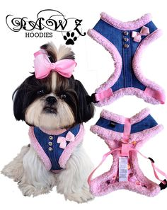 Denim Pink Harness...my Pumpkin needs one of these.