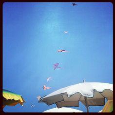 Kites on the beach in Rimini - Instagram by @Giulia Cimarosti