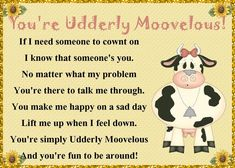 Some friends are simply mooovelous. Send them this quirky card to let them know. Free online For A Mooovelous Friend ecards on Friendship Friends Day, Cards For Friends, Best Friends, Friendship Words, Miss You Cards, You Make Me Happy, Sad Day, Need Someone, Feeling Down