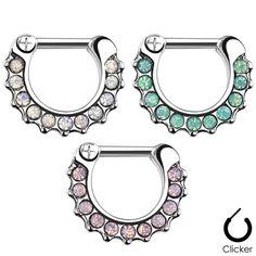 Septum Clicker Piercing med opaliter - Näspiercing, Piercing, Smycken, Piercingar, Piercingkungen.se