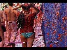 ▶ HOT: Throwing Tomatoes at La Tomatina Festival, Bunol, Spain: World's Biggest Food Fight! - YouTube