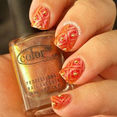 Color Club Wild and Willing stamped with BP-L003