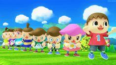 Animal Crossing New Leaf Models doing the Wave - Super Smash Bros. 3DS